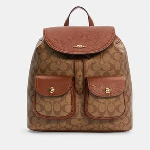 Coach Pennie Backpack In Signature Canvas